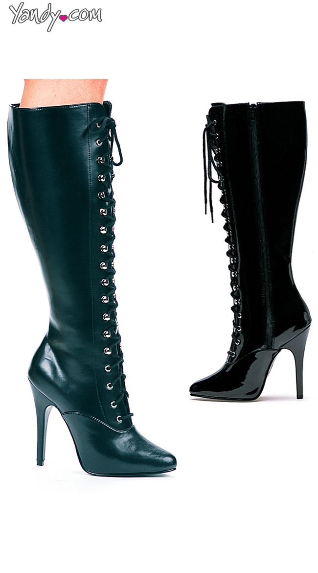 5199308e73841 Victorian Sexy Lace Up Knee High Boot | Bloom Where You're Planted ...