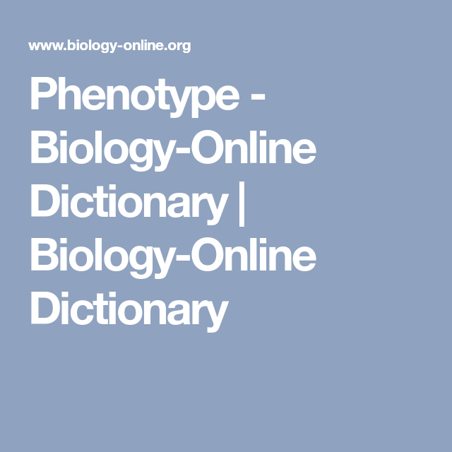 biology online dictionary
