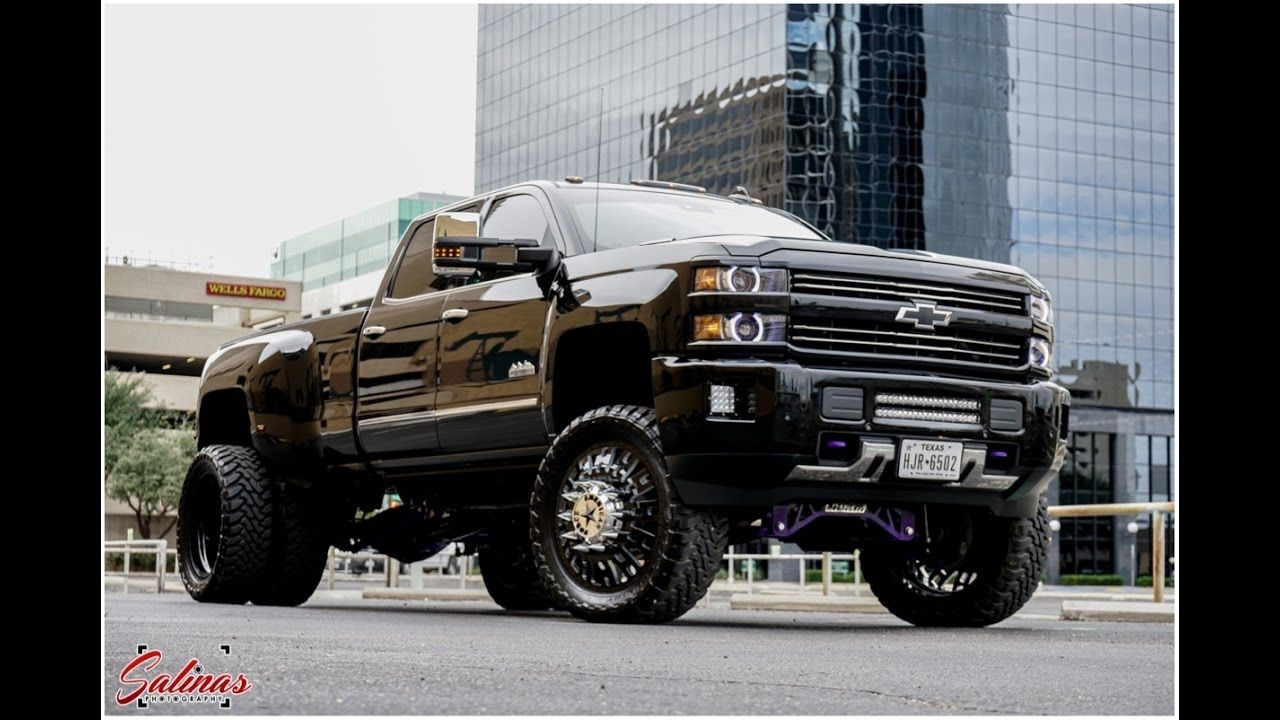 Big Loud And Fast Chevy High Country Dually Burns Out 24s