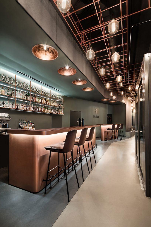 Stuttgart welcomes dittel architektenus copperclad whiskey bar