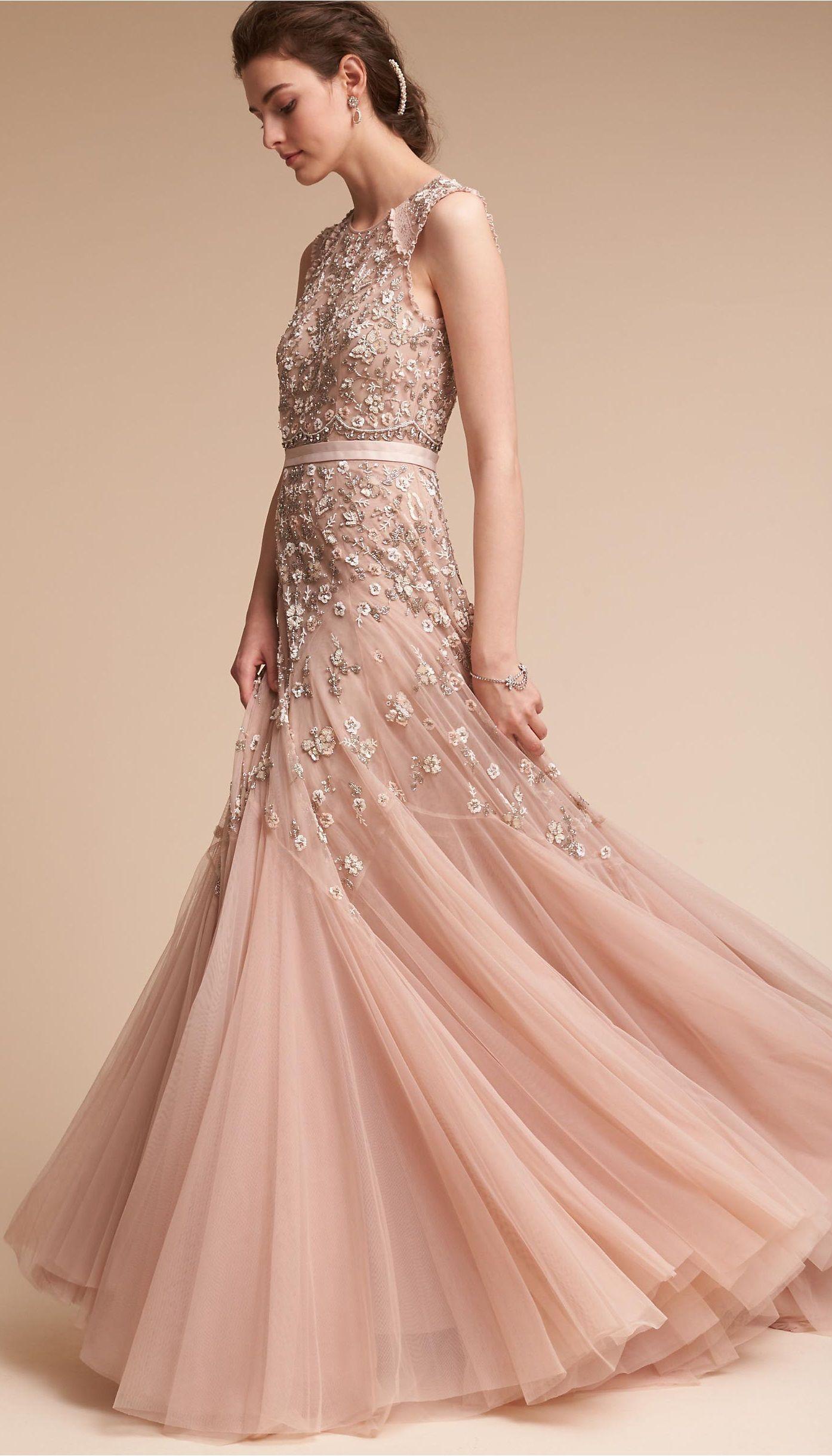 2de4b3c1e29a4 Dusky Pink Wedding Dress || Spring Wedding Dress || Colored Wedding Dress