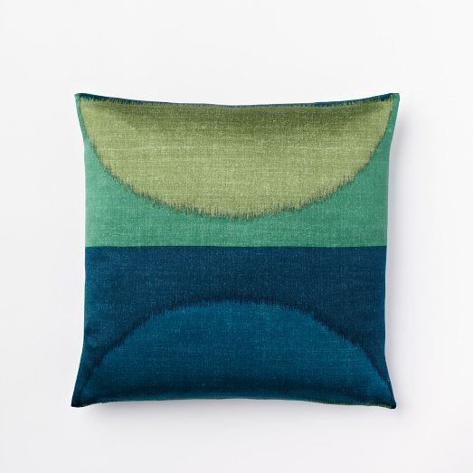 ikat moon silk pillow cover dragonfly west elm mid. Black Bedroom Furniture Sets. Home Design Ideas