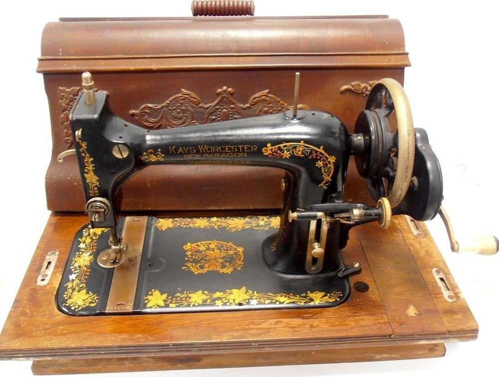 ▻Antigua Maquina De Coser KAYS WORCESTER New Paragon D 40 Rare Amazing Sewing Machines Worcester