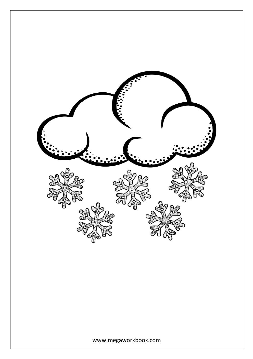 winter und schnee  weihnachten malvorlagen