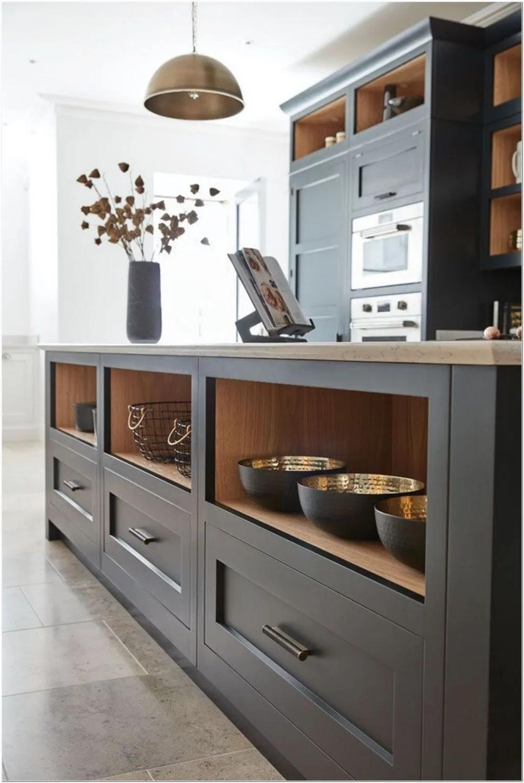 75 Dark Grey Shaker Style Kitchen Ideas 2 Grey Kitchen Designs Shaker Style Kitchens Kitchen Style
