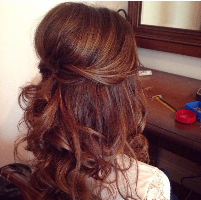 Hairstyle For Wedding Party Guest: Half Up Half Down Wedding Hairstyles