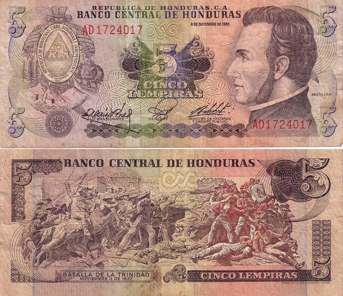 Clay Panix Com Money Collection Bank Notes Honduras