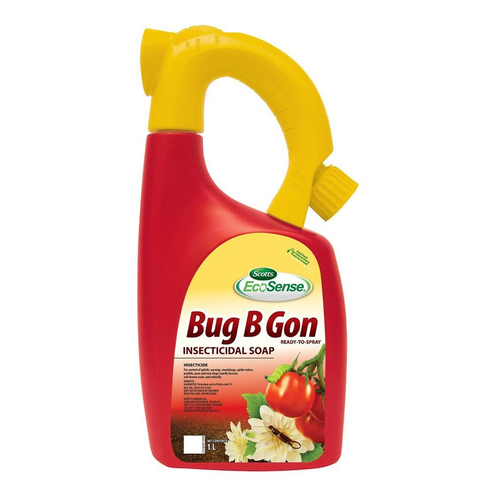 Shop Scotts Ecosense Bug B Gon 1 L Insecticidal Soap At Lowe S Canada Find Our Selection Of Lawn Garden Insect Control At With Images Insecticidal Soap Garden Insects