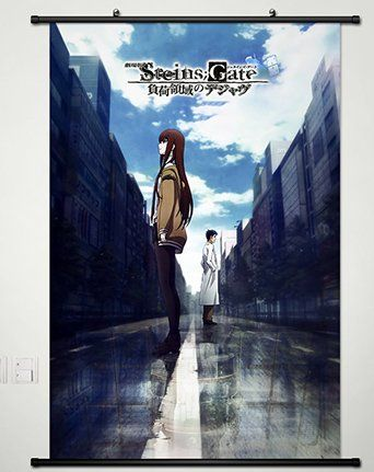 Steins;Gate Anime HD Canvas Print Wall Poster Scroll Home Decor Cosplay