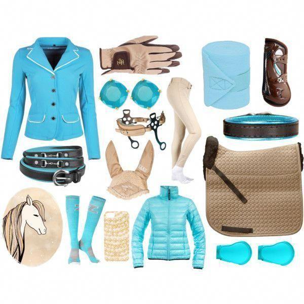 English Equestrian Fashion Riding Boots Breeches Helmet Brown Tan Beige Light Bl...