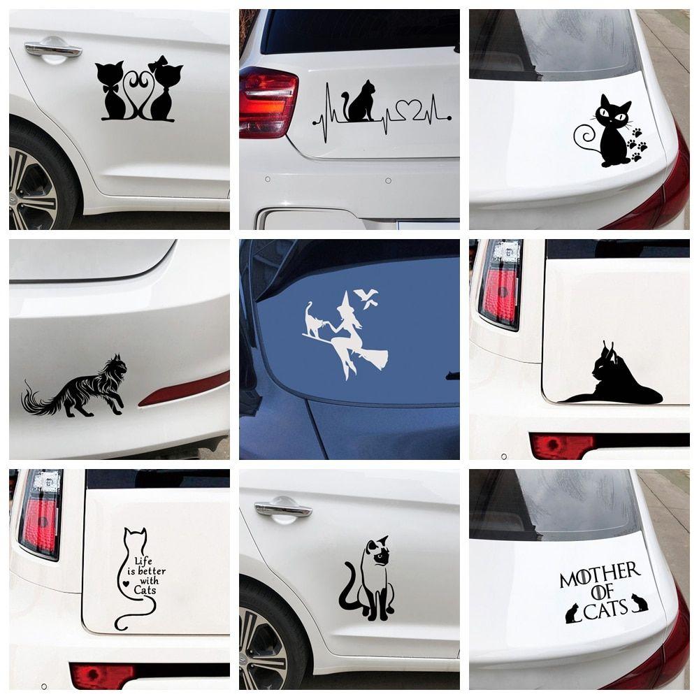 036 14 79 Ndash 036 17 79hooray Free Shipping 10 Styles Cartoon Character Cat Car Stickers Wrap Vinyl For Car Vinyl For Cars Black Stickers Car Decor [ 1000 x 1000 Pixel ]