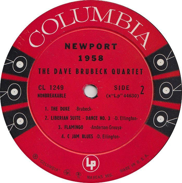 The Dave Brubeck Quartet - Newport 1958 - Columbia - USA