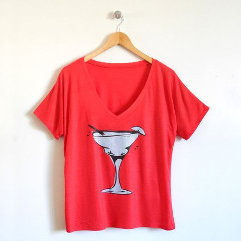 Margarita Ladies T-Shirt in Red –   Perfect for Taco Tuesdays!