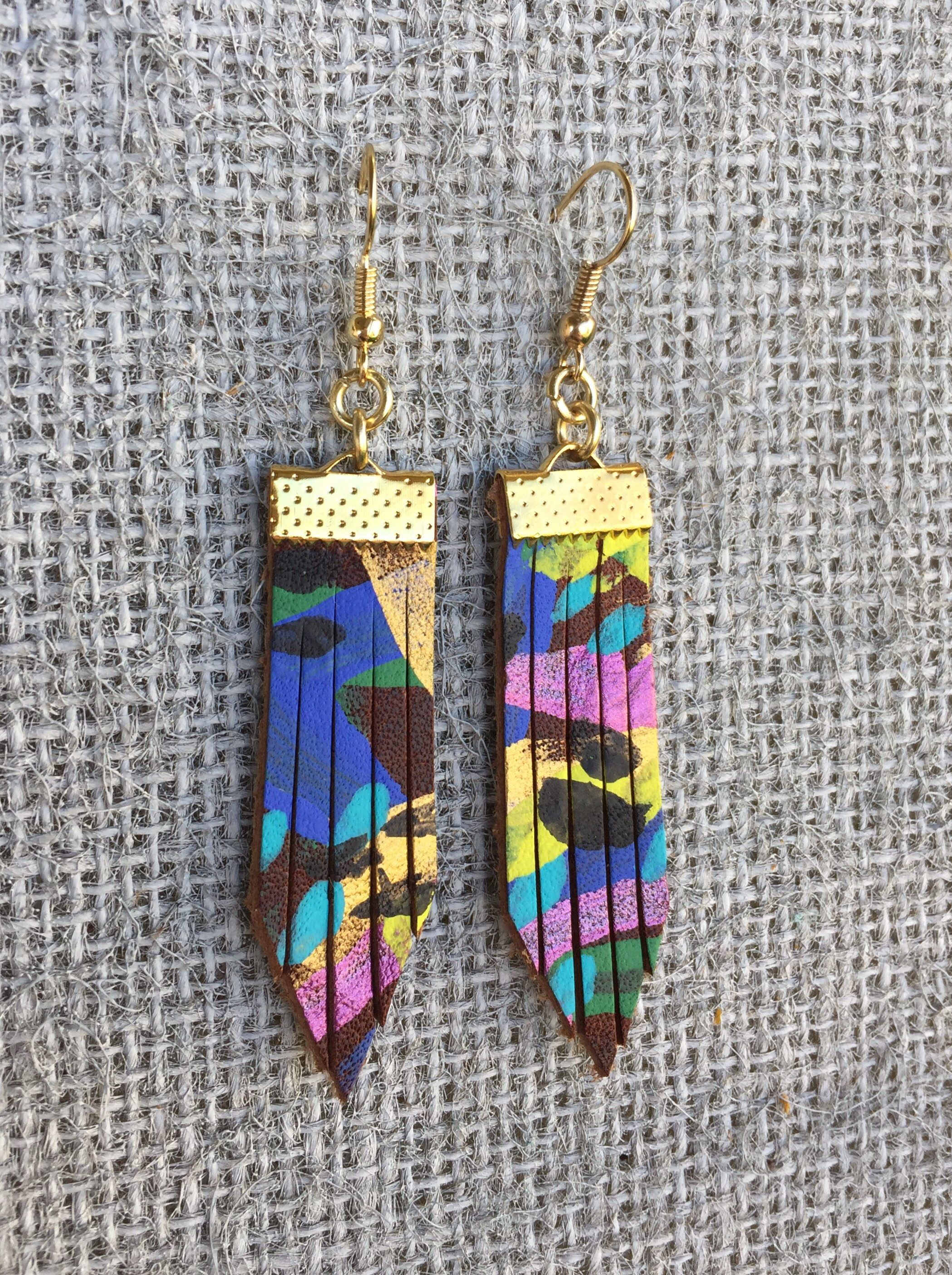 way earrings art inspiration the jaine for these wooden hand back on painted rw wearable a go earring provide form take with creates post to