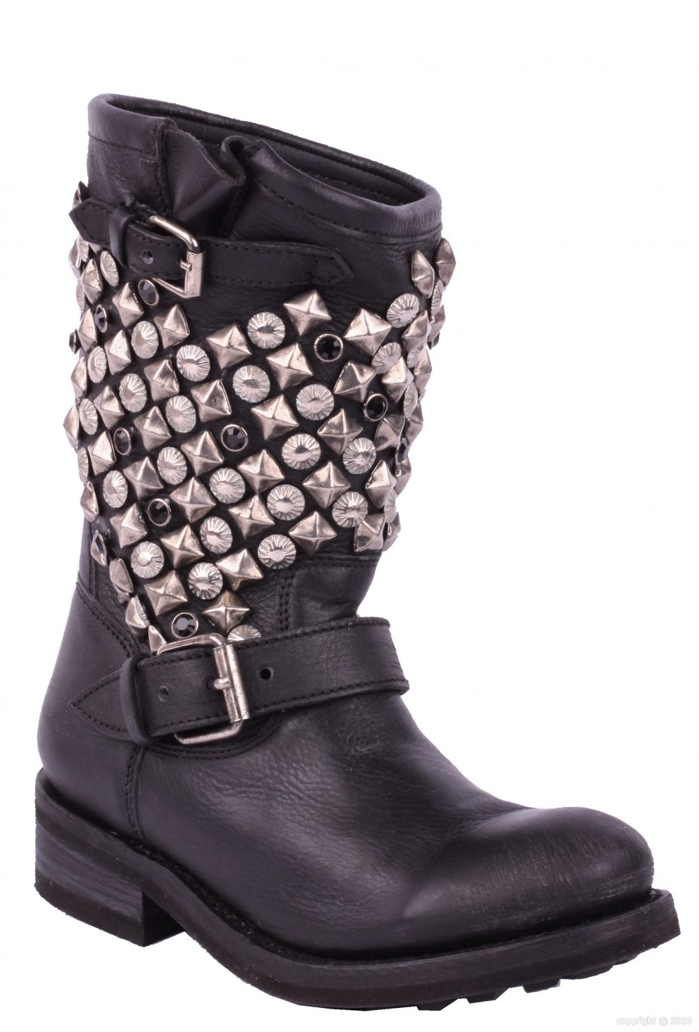 Soon Ash Cuir En The Boots Mine Tokyo For lt;3 Cloutées Biker 1w1grtq0