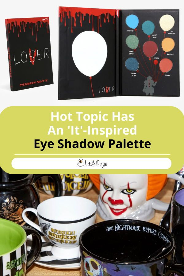 An 'It'-Inspired Eye Shadow Palette Exists: Hot Topic has dropped an 'It'-inspired eye shadow palette in time for Halloween. Check it out and prepare to be spooked. #eyemakeup #makeupstyle #halloweenmakeup #makeupforhalloween #eyeshadowlooks