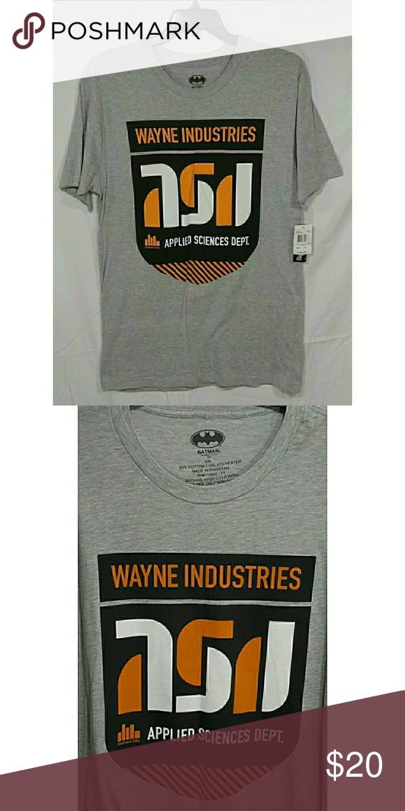 Batman Wayne Industries Men/'s T-Shirt