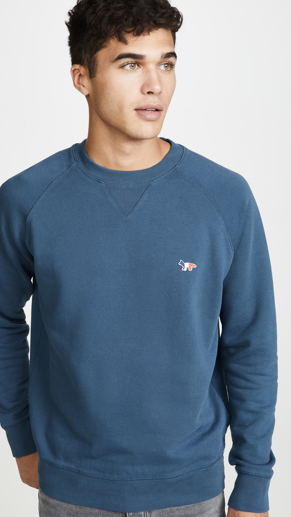 Maison Kitsune Long Sleeve Sweatshirt With Tricolor Fox Patch Long Sleeve Tshirt Men Long Sleeve Sweatshirts Pullover Styling [ 1773 x 1000 Pixel ]