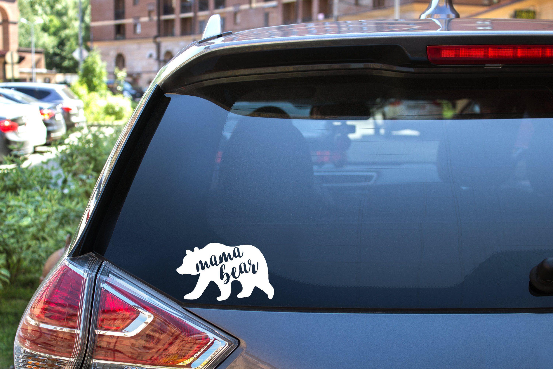 Mama Bear Decal Funny Car Decals Car Decals Vinyl Rear Window [ 2000 x 3000 Pixel ]