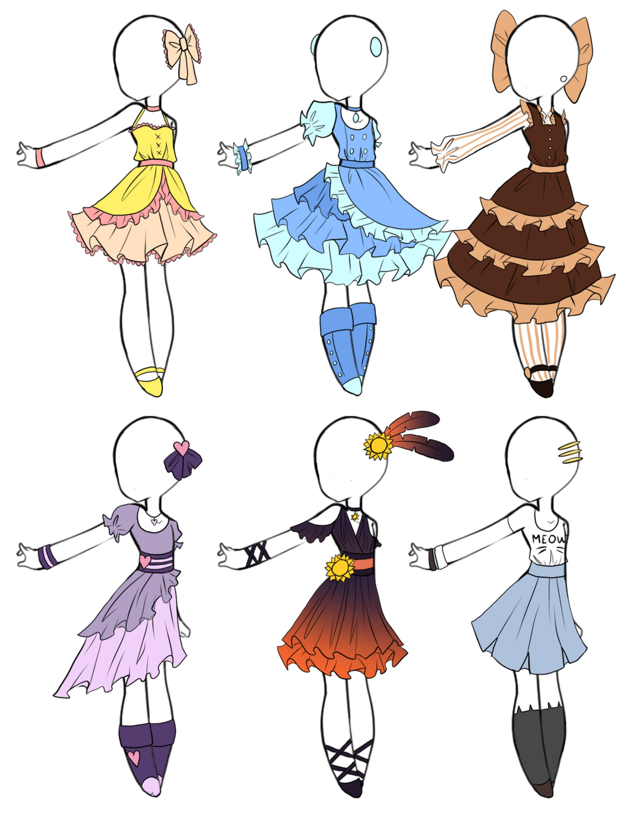 Cute adoptable dresses closed by aligelica on deviantart