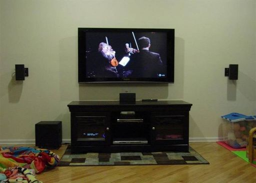 I Want To Mount Our Tv Speakers To The Wall And Hid The Wires In The Wall Hanging Tv Tv Speakers Wall