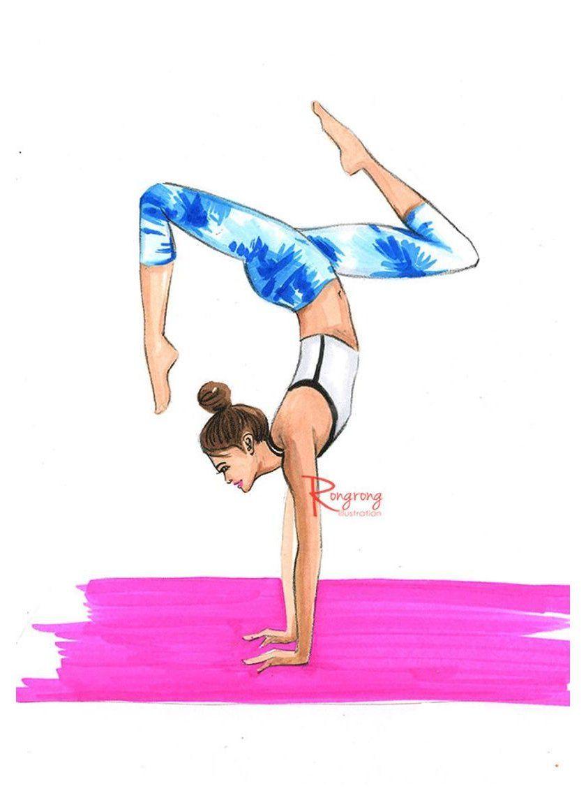 yoga fashion illustration