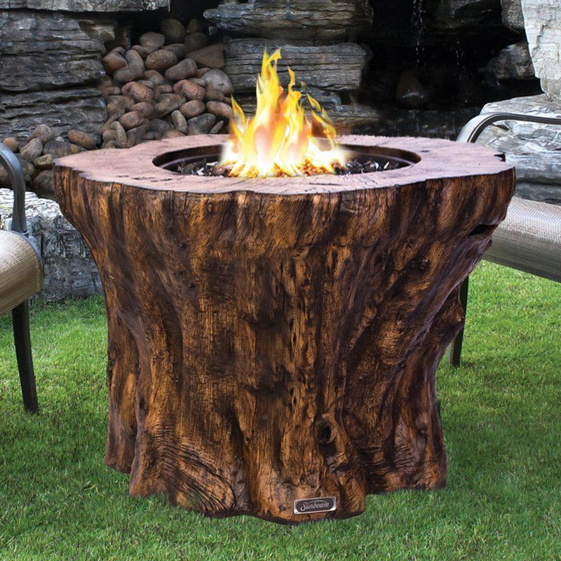 Sunbeam Concrete Propane Fire Pit Table Fire Pit Table Propane