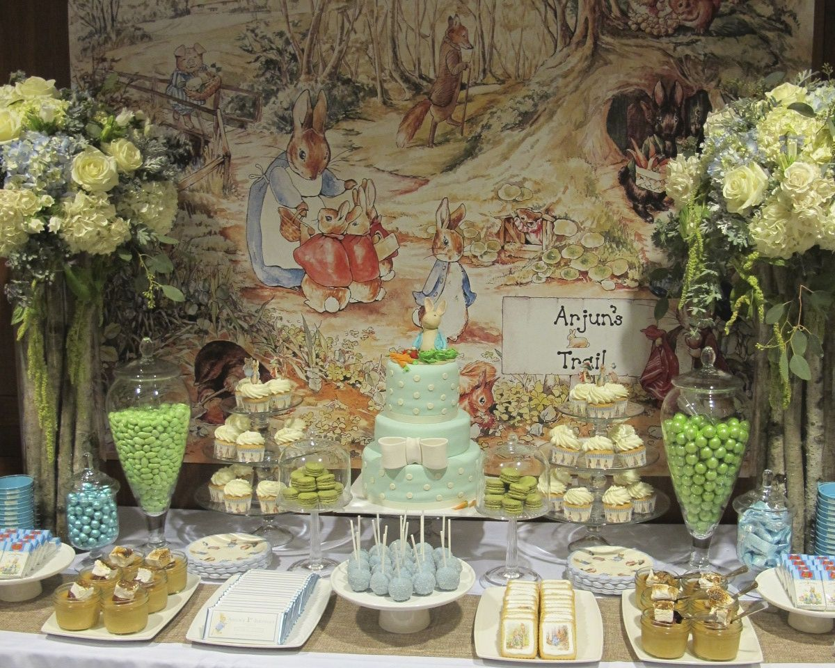 Peter Rabbit Birthday Dessert Table | Tablescapes | Pinterest ...