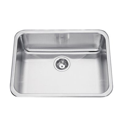 Kindred 22 In X 8 In Stainless Steel Single Sink Single