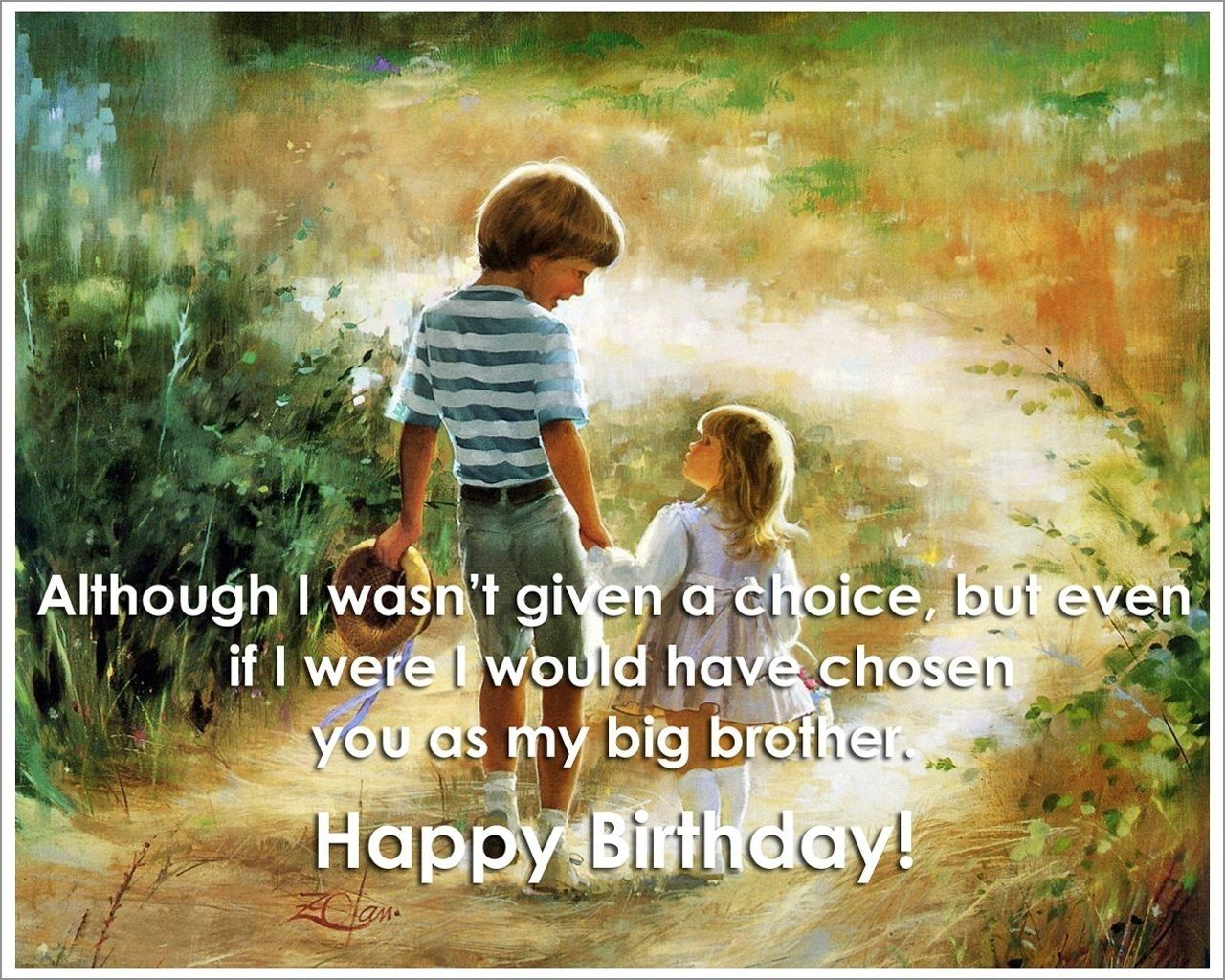 Happy Birthday To My Big Brother Intended For Ideas Birthday