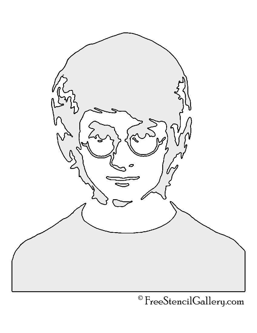 Harry Potter Stencil Harry Potter Stencils Harry Potter Drawings Marker Art