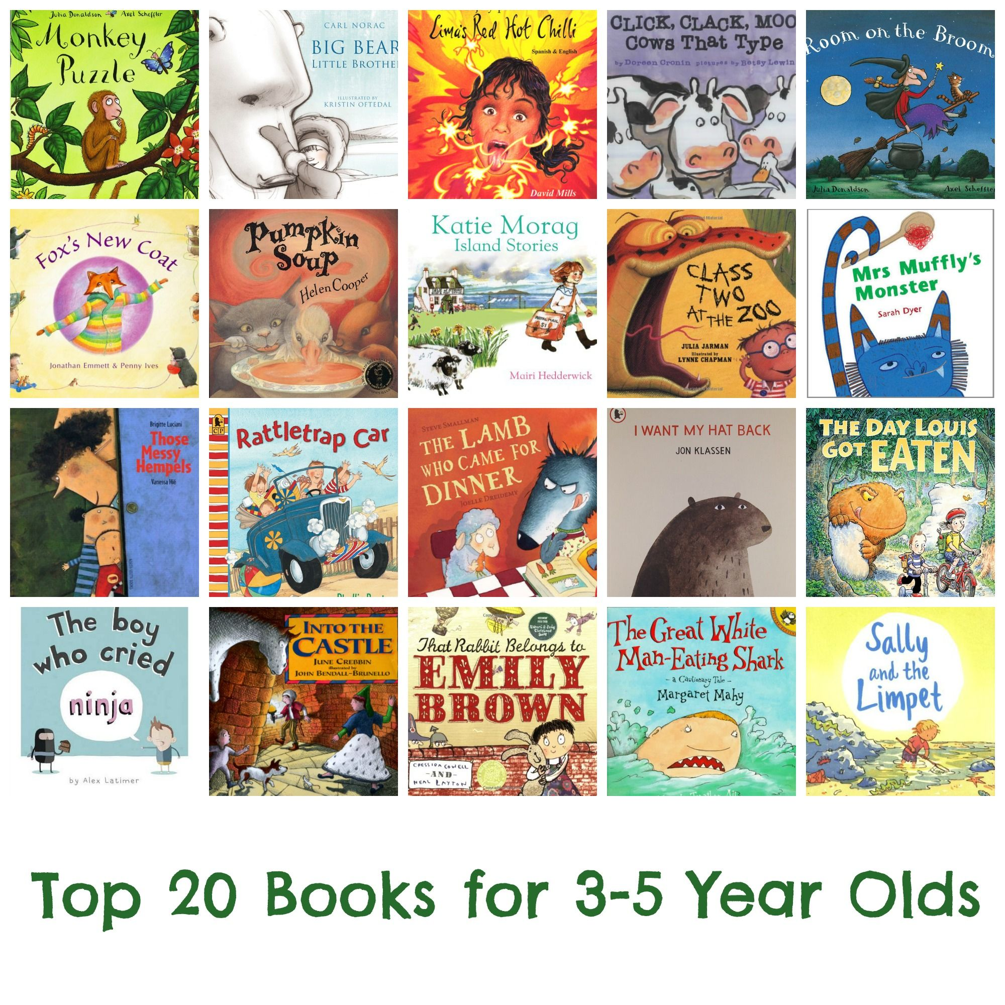 Top 20 Books For 3 5 Year Olds Bedtimereading Preschool Nursery