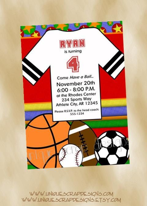 Have a ball sports birthday party invitation by uniquescrapdesigns have a ball sports birthday party invitation by uniquescrapdesigns 1200 filmwisefo Image collections