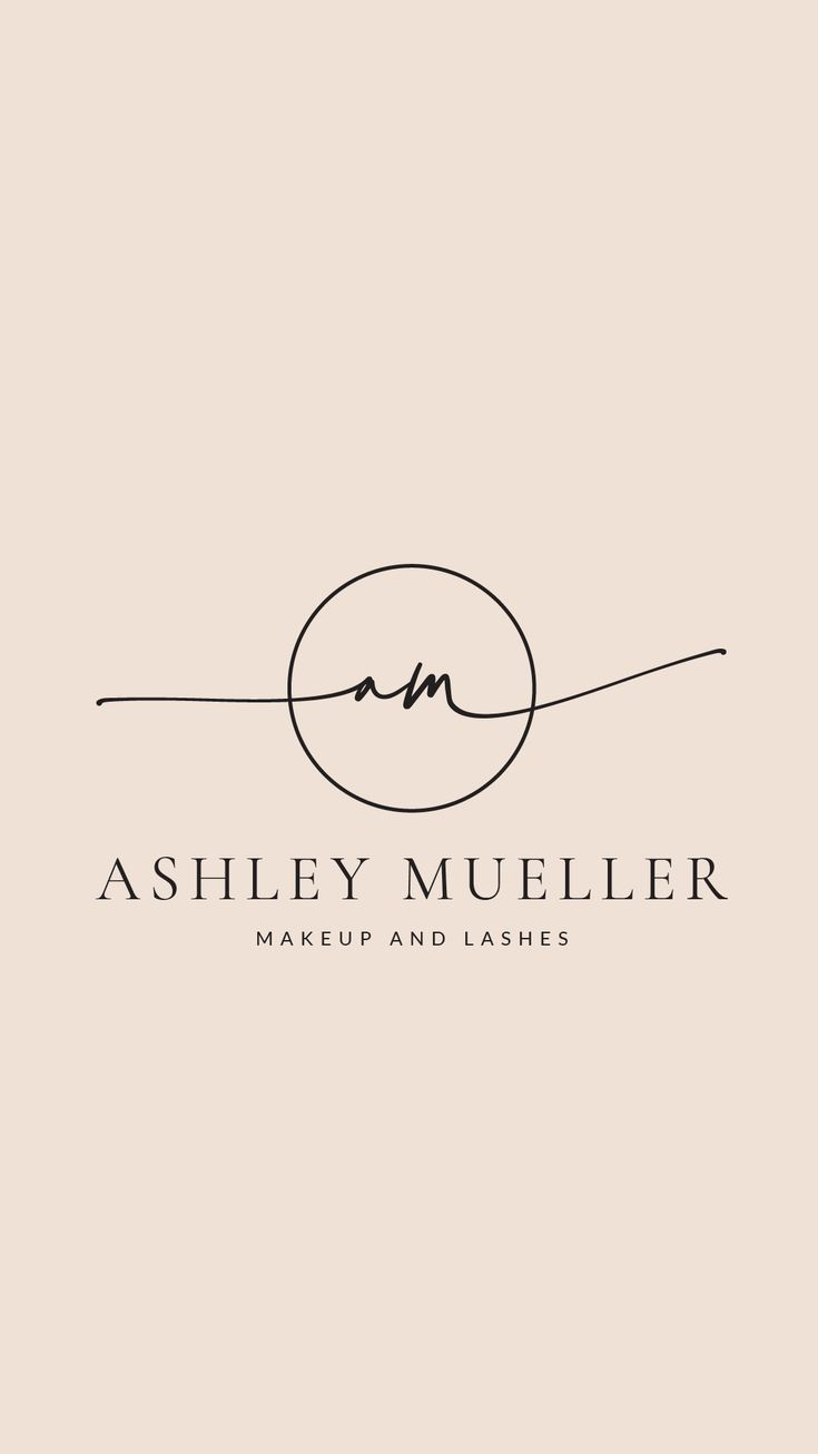 Logo design and branding kit -  fully customizable, beauty logo, cursive logo, hair and beauty logo, handwritten, lashes logo, salon logo