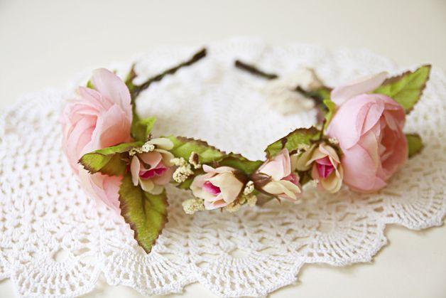 flower hairband haarband haarreif hochzeit vintage. Black Bedroom Furniture Sets. Home Design Ideas