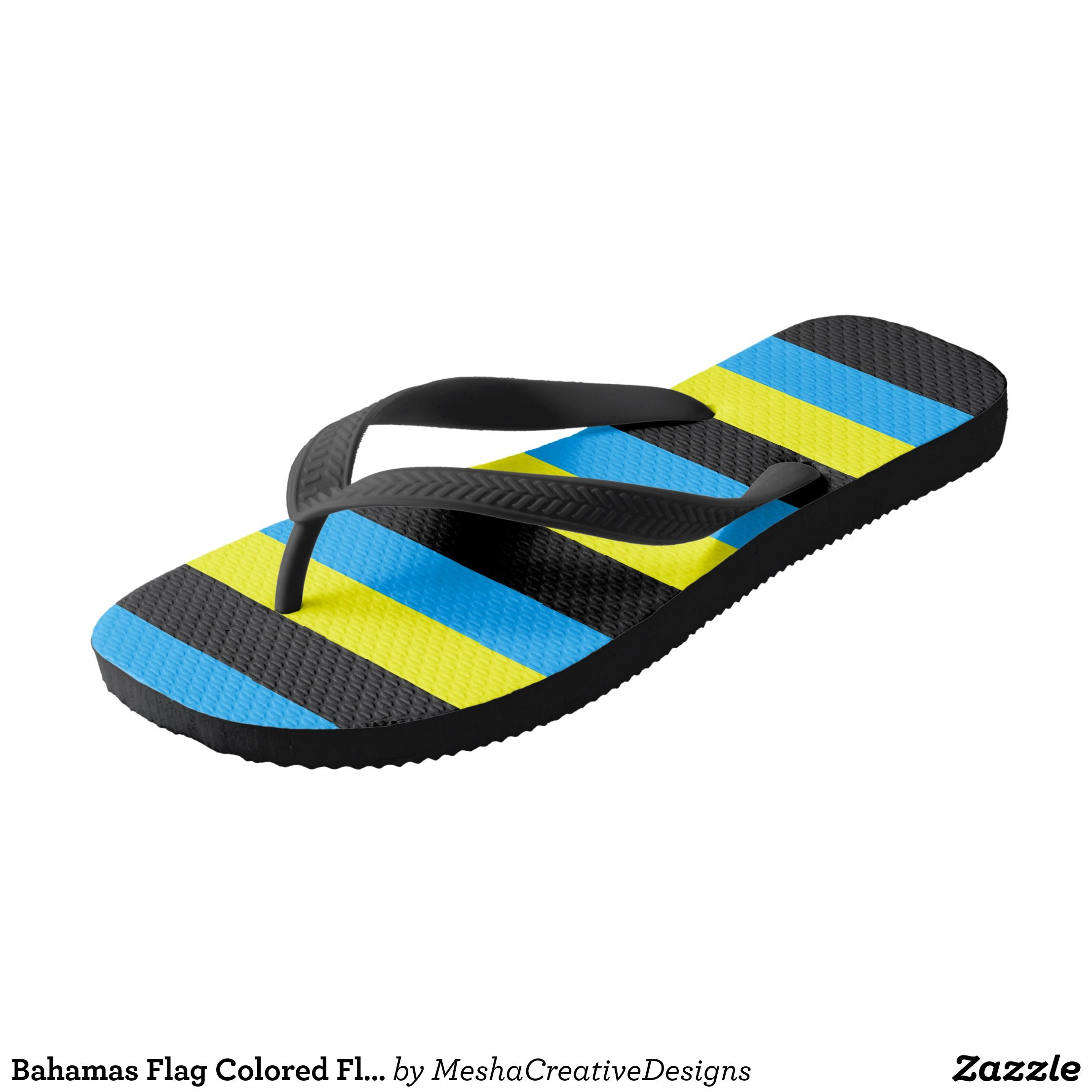 Bahamas Flag Colored Flip Flops Zazzle Com Flag Colors