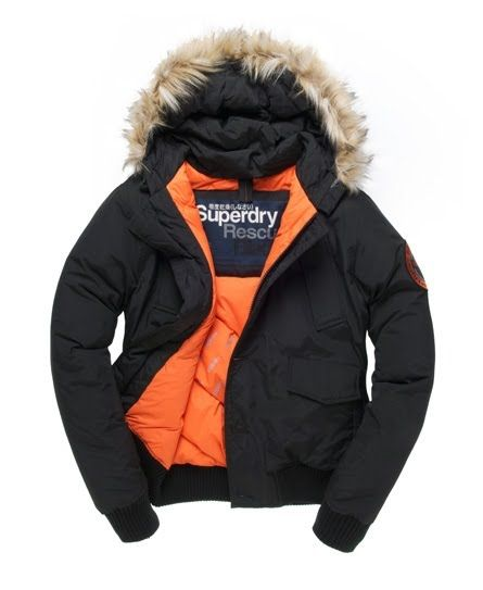 Superdry everest winterjacke schwarz