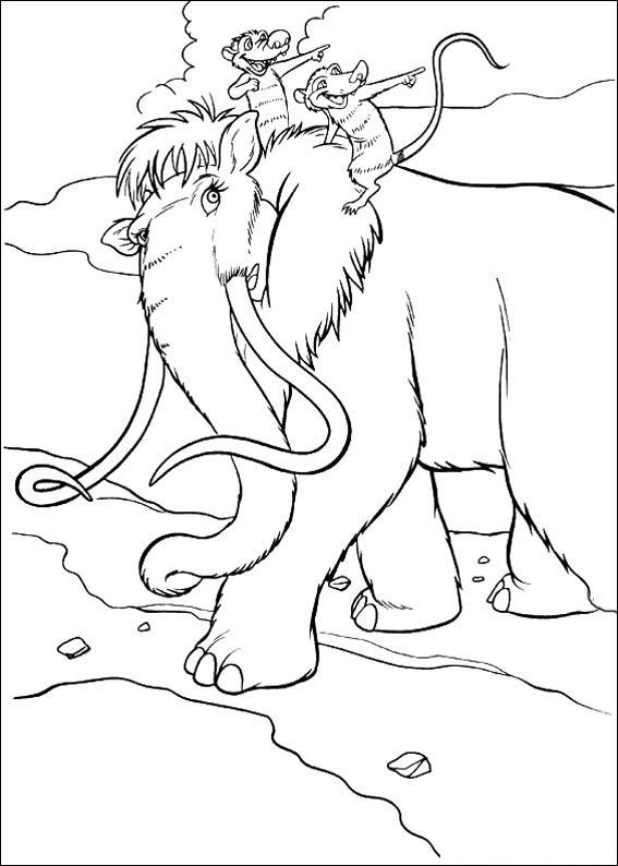 Dibujos para Colorear Ice Age. La Edad de Hielo 12 | Dibujos para ...