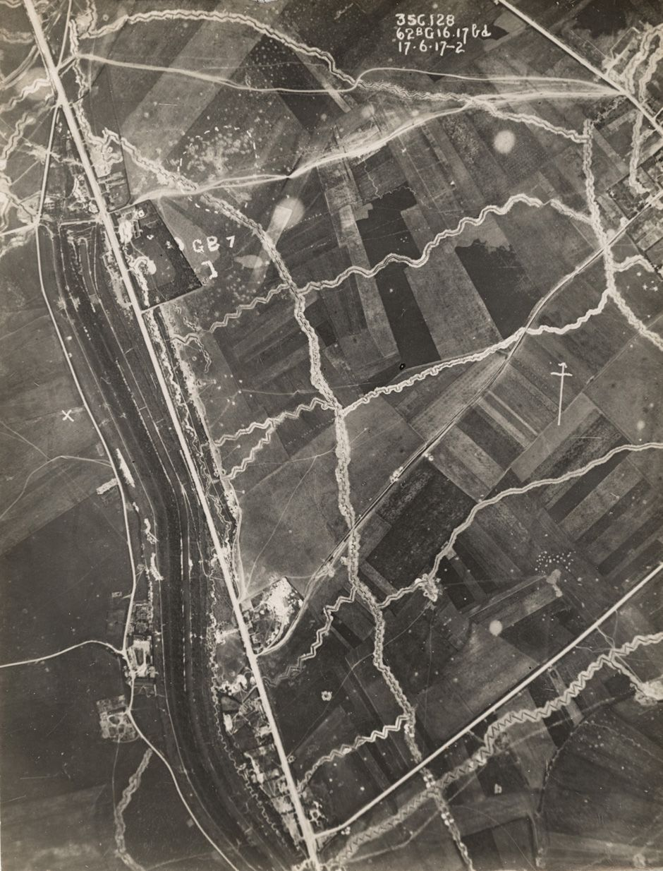 An Aerial Photograph Taken From A British Plane Shows Trenches Carved Into The Land On Western Front June 17 1917 REUTERS AMC