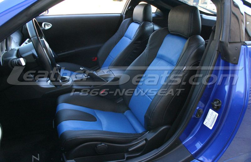 2006 nissan 350z two tone black w pacific blue leather interior seats auto addiction. Black Bedroom Furniture Sets. Home Design Ideas