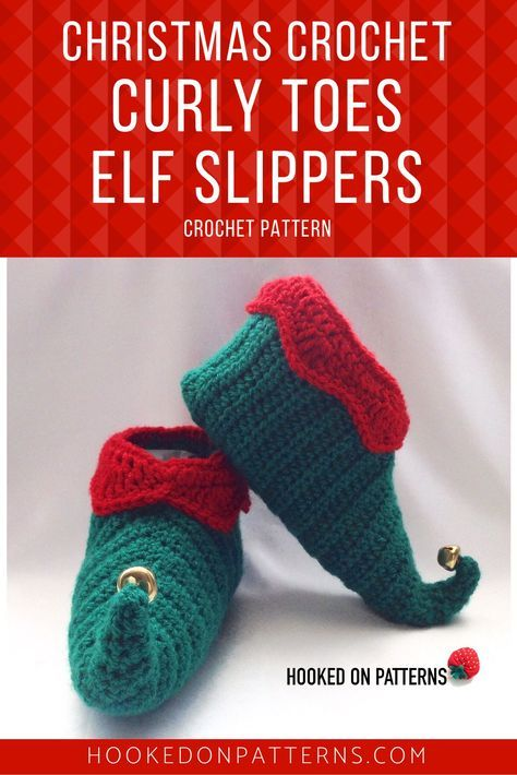 Elf Slippers Shoes Crochet Pattern - Curly Toes | imagenes Fig ...