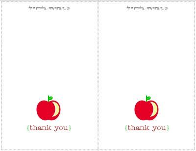 Back to School DIY Printable Thank You Cards ~ Perfect for Teachers