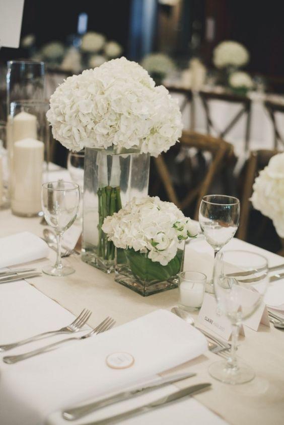 Wedding reception centerpiece idea; Featured photographer: Rebecca Amber Photography