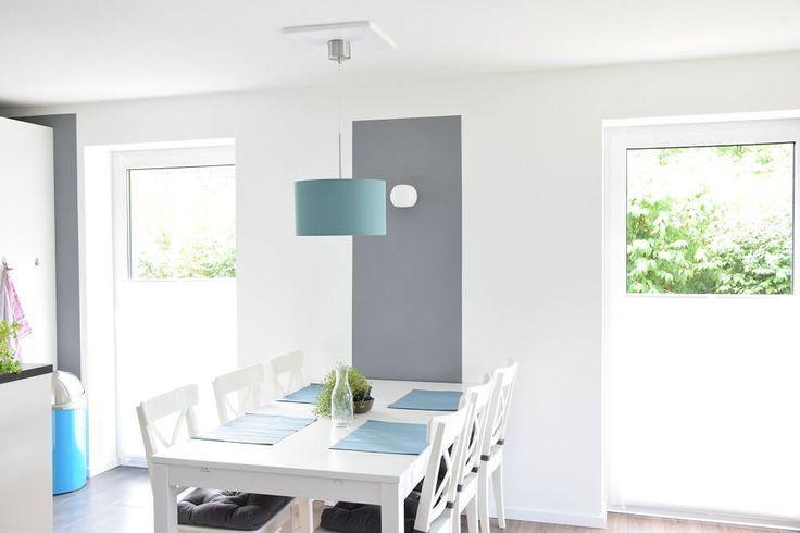 Wohnzimmer mit IKEA Möbeln und neuer Deckenleuchte #LampDecke Lamp