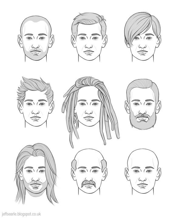 Drawing Man Hair Long Hair Drawing How To Draw Hair Drawing Male Hair