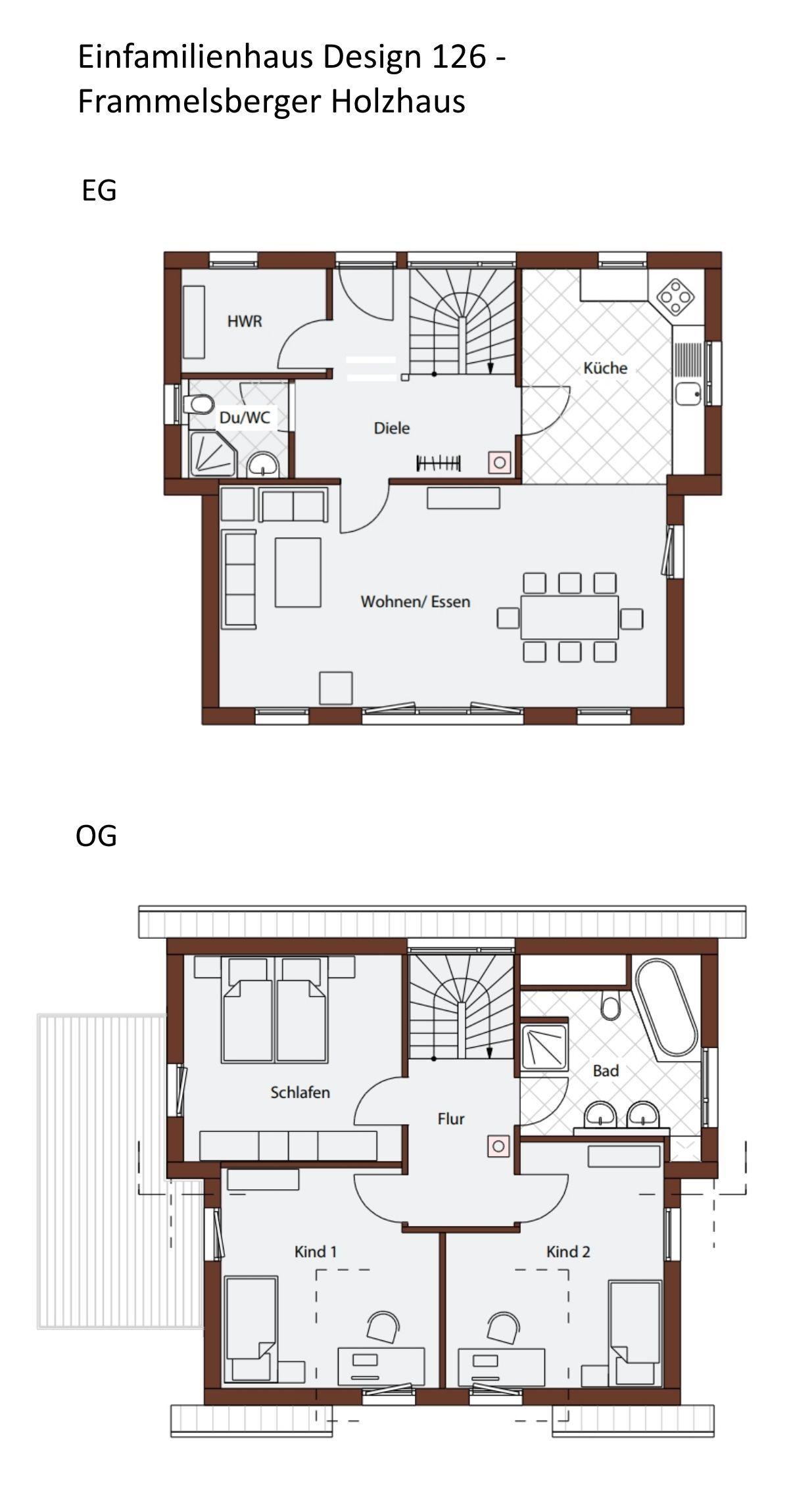 Versetztes Pultdachhaus Grundriss 4 Zimmer 126 Qm Erdgeschoss