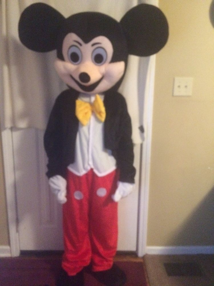 New Professional Mickey Mouse Mascot Costume Fancy Dress Adult Size BIG SALE