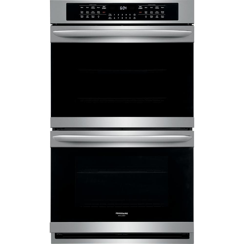 Frigidaire Gallery 30 In Double Electric Wall Oven With True Convection Self Cleaning In Stainless Steel Fget3066uf Wall Oven Electric Wall Oven Stainless Steel Oven