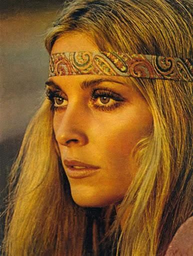 Sharon Looking Like A Classic Flower Child In 1968 Hippie Makeup