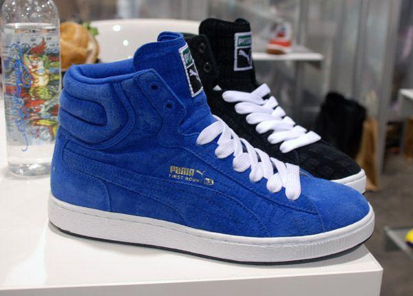 puma blue color shoes